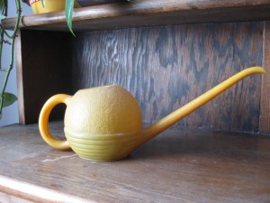 Orange watering can