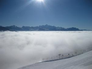 Mount Blanc through cluds