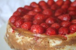 New York Style Strawberry and white chocolate cheesecake